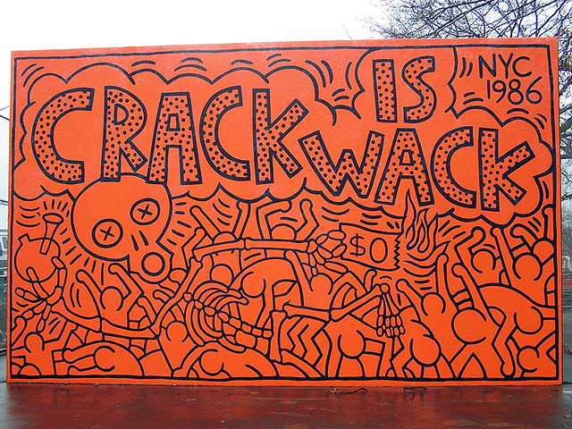 23 blvd the blog less traveled by that has made all for Crack is wack keith haring mural